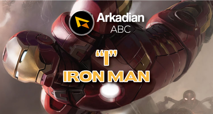 "Arkadian ABC Marvel | ""I"" de Iron Man"